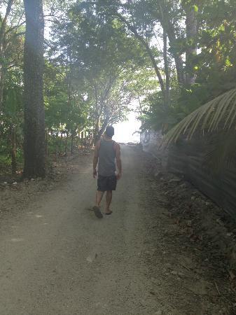 Hotel Manalá: Path to the beach.