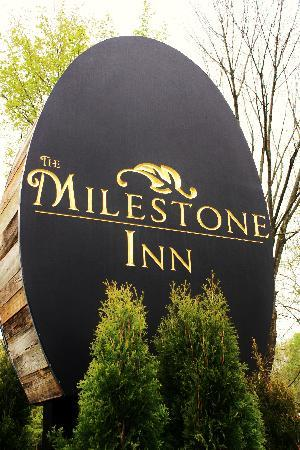 The Milestone Inn: Inn sign
