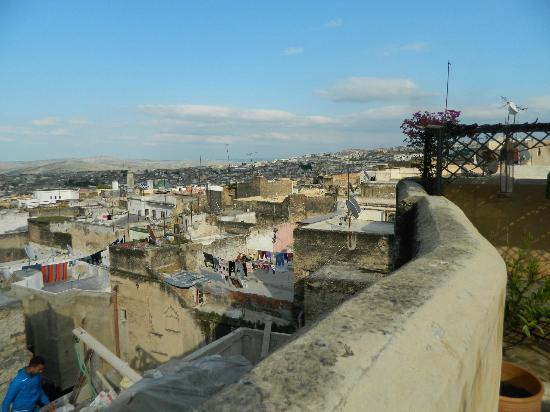 Dar El Hana: vieuw from terras