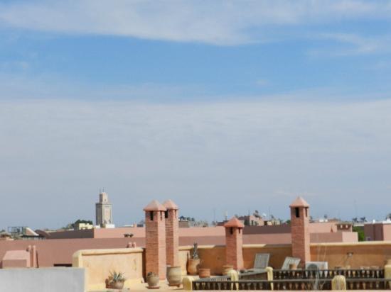 رياض دافينشي: vue de la terrasse du riad de vinci