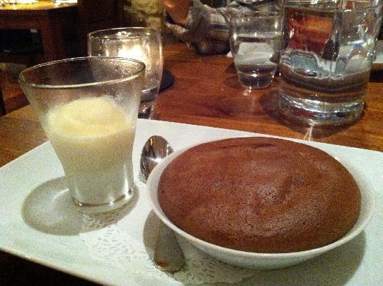 Auberge Lou Peyrol: Le soufflé au chocolat