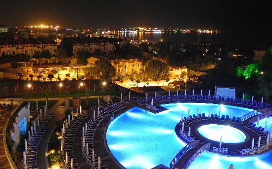 Side Prenses Resort Hotel & Spa: From the balcony at night