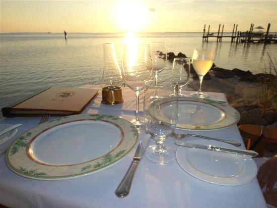 Little Palm Island Resort & Spa, A Noble House Resort: Dinner on the beach at sunset