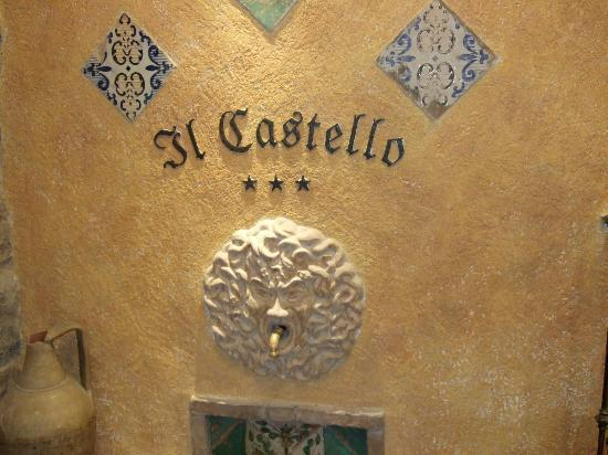 Il Castello: A detail of the tile work in the public area
