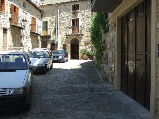 Il Castello: The back entrance where you park your car