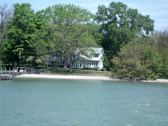 Lakeshore Landing: View of B&B from ferry.