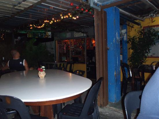 Anthony's Beer Garden: the signature wall