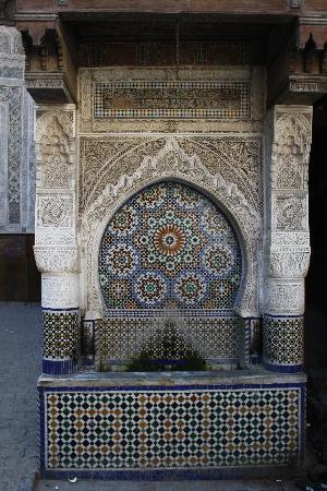 Dar Zohor : Marokkaanse fontein in Fes
