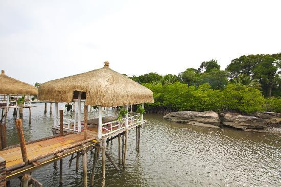 chill out at tiki huts on stilts picture of thmorda crab house rh tripadvisor co uk