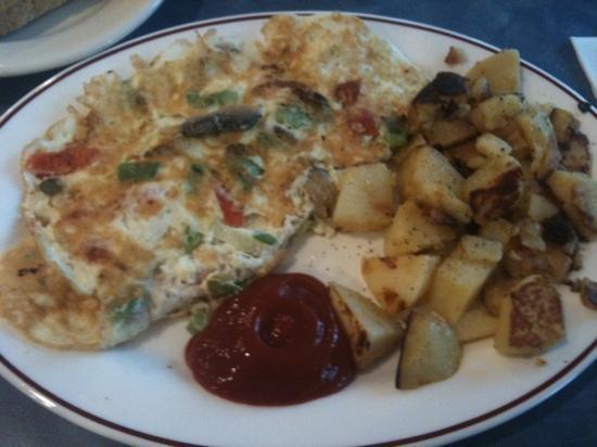 Sky Diner: Egg white veggie omelet