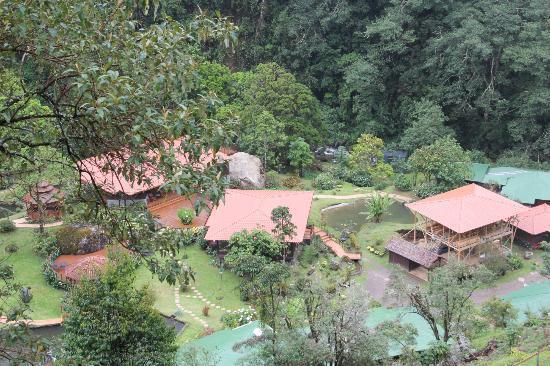 Trogon Lodge San Gerardo de Dota: Vista Aerea del Hotel