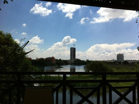 Hotel Restaurant Tamboho: Aussicht von der Terrasse