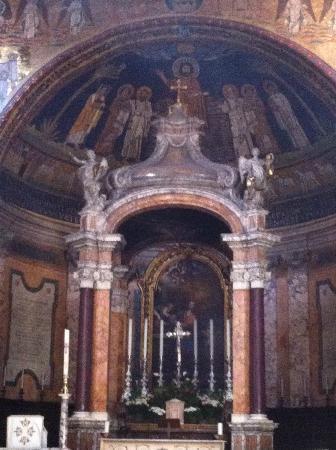 Basilica Di Santa Prassede : particolare dell'anside