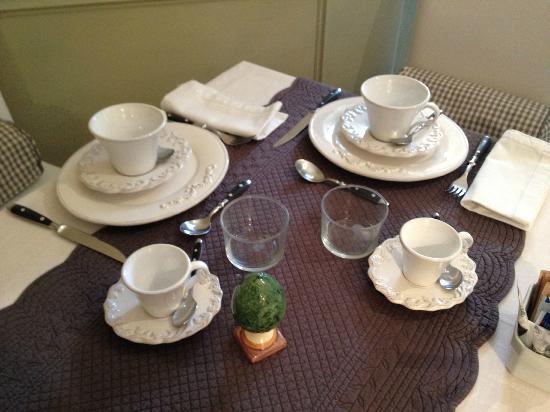 Villa Magnolia Relais: Breakfast setting