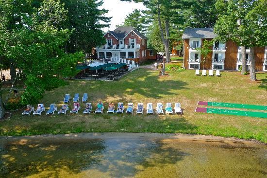 Shamrock Lodge: Aerial shot