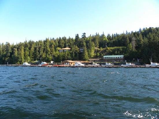 Salmon Falls Resort from the ocean