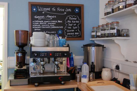 Rosie Lea Tea House & Bakery: fresh coffee and loose leaf teas