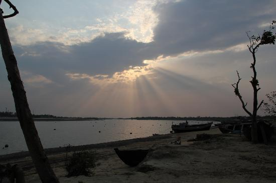 Chandipur Beach: View of sunset from the other side of  Balaramgadi,chandipur.