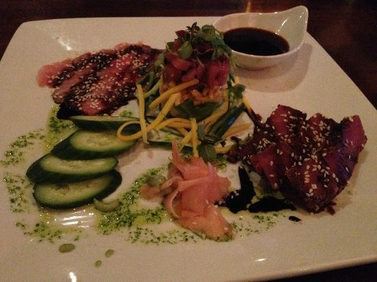 Citrus City Grille: ahi trio (ahi poki, carpaccio, and blackened)