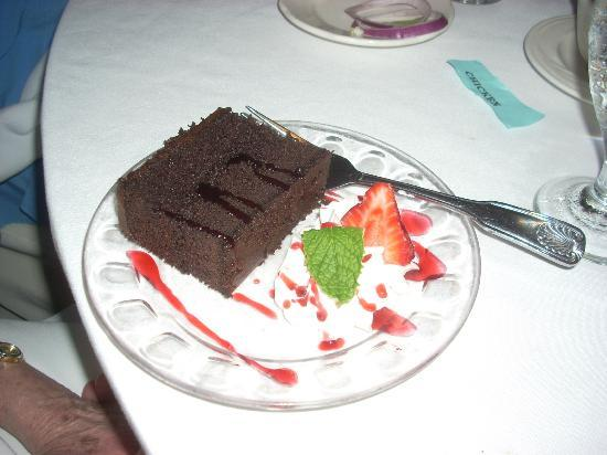 Ken's Steak House: Black Forest Cake is rich and decadent