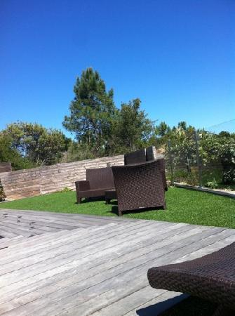 Hotel Castell'Verde: petit salon piscine