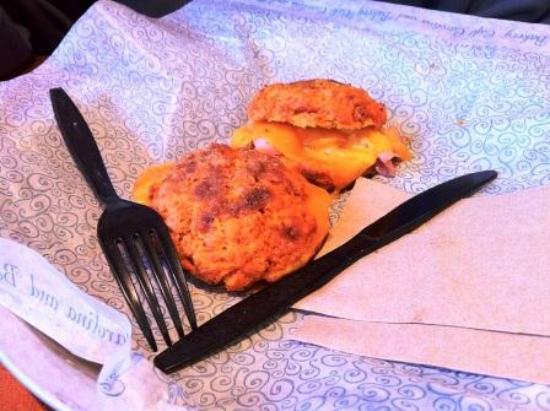 Cafe Carolina & Bakery: Ham and Cheese Sweet Potato Sandwich