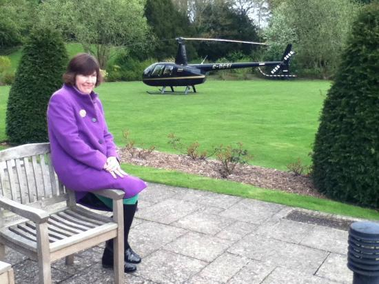 Wyck Hill House Hotel & Spa: You don't see one of these parked in a hotel garden very often!