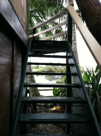 A Beach House At Byron: stairs to Gazebo
