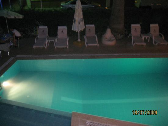 Hotel Villa Atac: swimming pool at night
