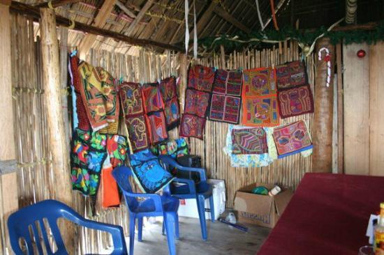 Cabanas Iron: The dining room, that also had molas for sale!