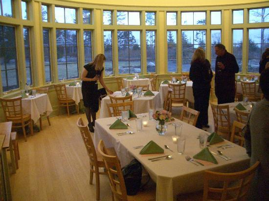 Coastal Maine Botanical Gardens: the dining area in what is usually the cafe