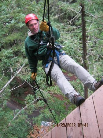 Sonoma Canopy Tours: Rappel down--very fun