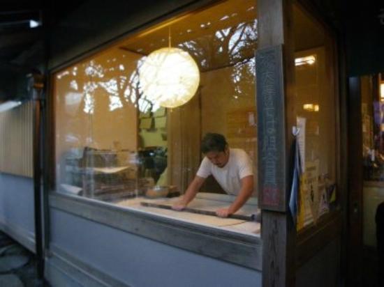 Teuchisobadokoro Yusui: 蕎麦打ち風景