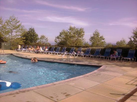 Ocean Mesa Campground at El Capitan: Pool view looking West