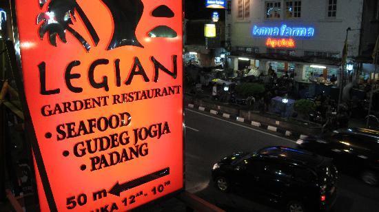 Hotel Sign Picture Of Legian Garden Restaurant Yogyakarta Region Tripadvisor