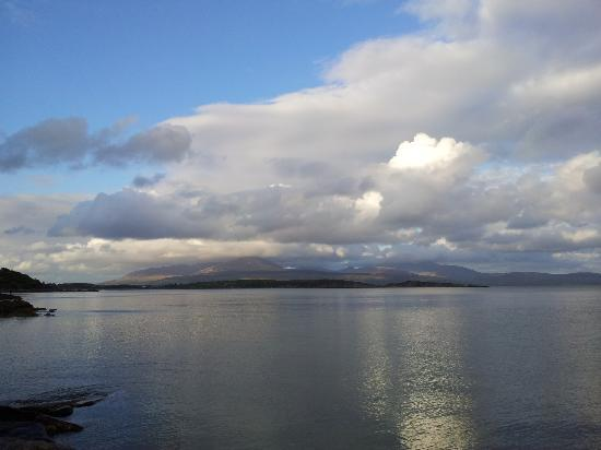 Torrisdale Castle : View from the Bay near to Torrisdale looking across to Isle of Arran