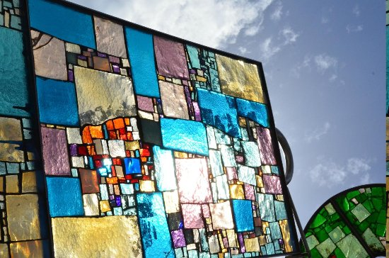 Montegrotto Terme, Italy: giochi di luce nel vetro