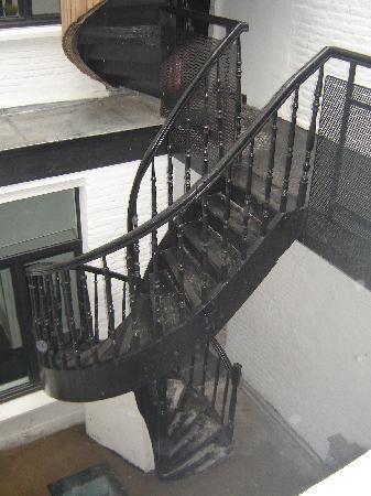 Princesse Apart'hotel : Het uitzicht op de trap.