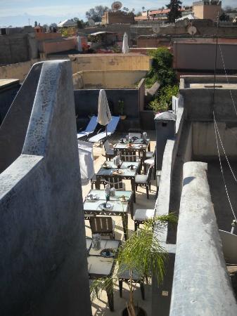 Riad Alamir: Dachterrasse