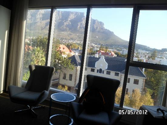 African Pride 15 On Orange Hotel: View of Table Mountain from the room