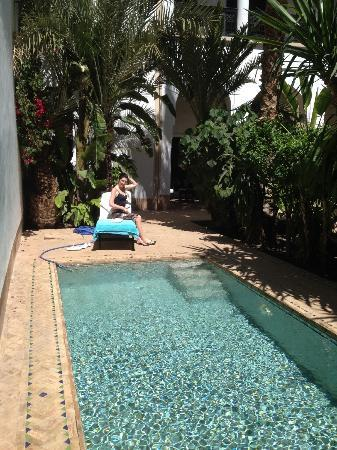 Riad Samarkand: Pool---beside our terrace!