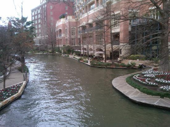 The Westin Riverwalk, San Antonio: View of the hotel from the Riverwalk