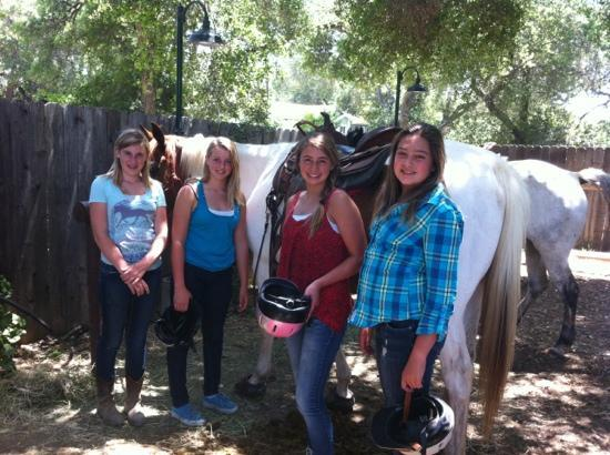 Ojai on Horseback : birthday girl and Friends