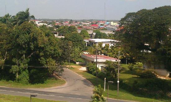 Courtyard Paramaribo : View of the residential area across the dtreet from the Hotel