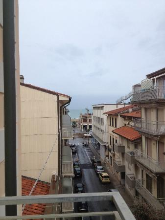 Hotel Tirrenia: view from our balcony