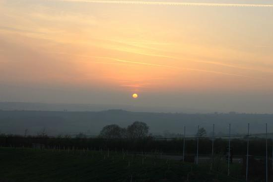 Evershot, UK: Sunset From Our Room
