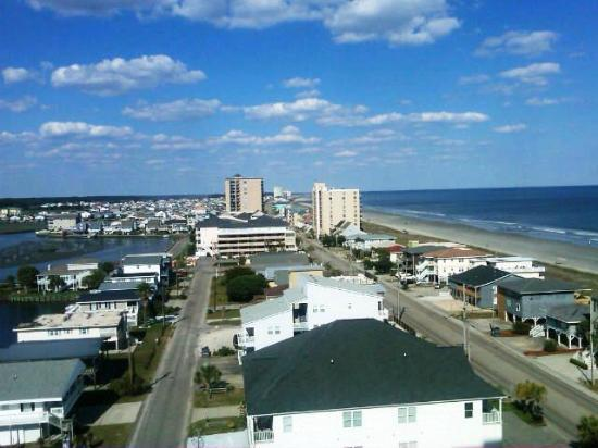 View from 1040 balcony - side view looking North up N. Ocean Drive