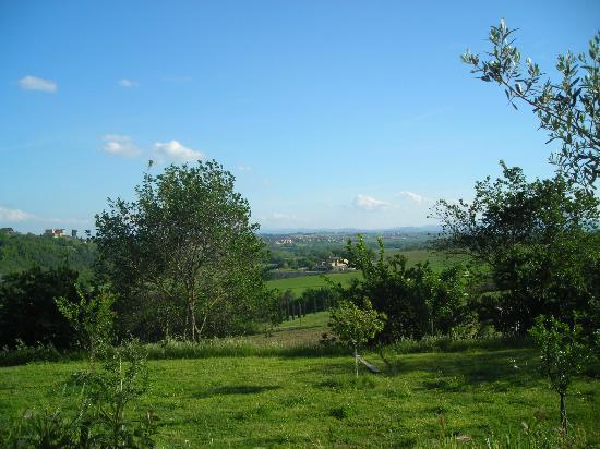 Perugia Farmhouse B&B: View from lawn