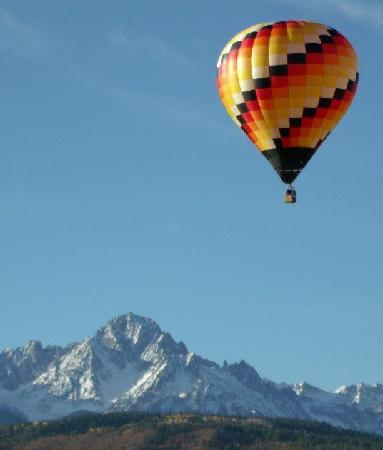 A beautiful flight over Ridgway, CO with a view of the San Juan Mountains