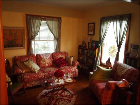 Quite The Stir : comfortable living room with flatscreen TV